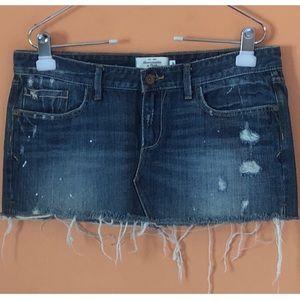 Micro Mini Denim Skirt